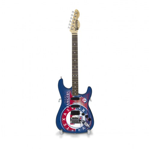 Texas Rangers Mini Replica Guitar
