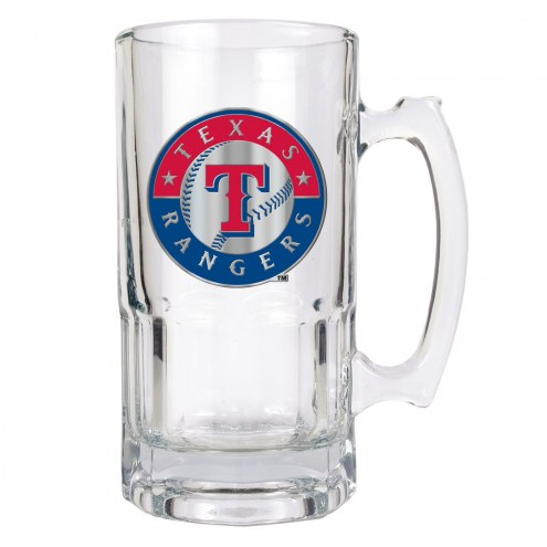 Texas Rangers MLB 1 Liter Glass Macho Mug