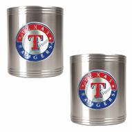 Texas Rangers MLB Stainless Steel Can Holder 2-Piece Set