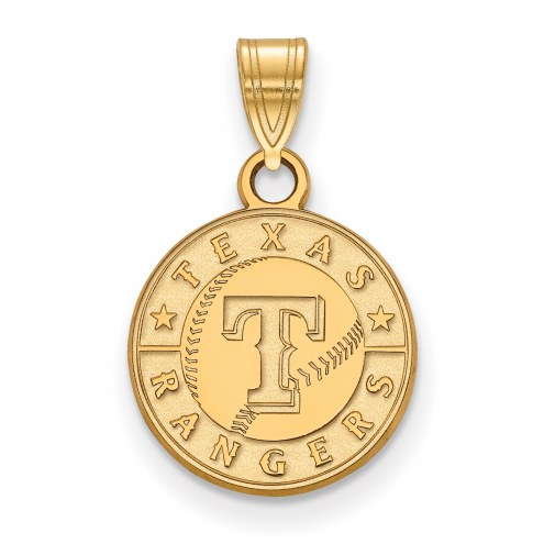 Texas Rangers MLB Sterling Silver Gold Plated Small Pendant