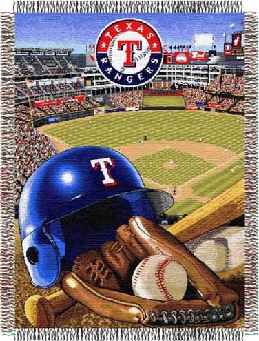 Texas Rangers MLB Woven Tapestry Throw Blanket