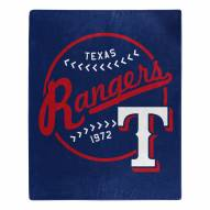 Texas Rangers Moonshot Raschel Throw Blanket
