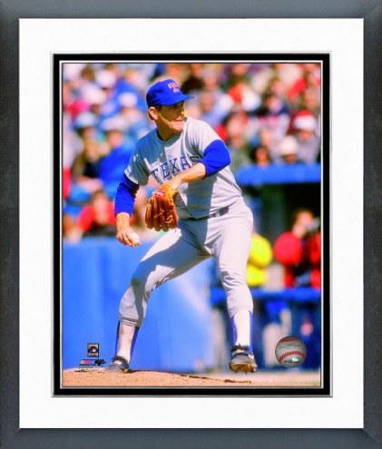 Texas Rangers Nolan Ryan 1991 Action Framed Photo