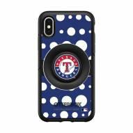Texas Rangers OtterBox Symmetry Polka Dot PopSocket iPhone Case
