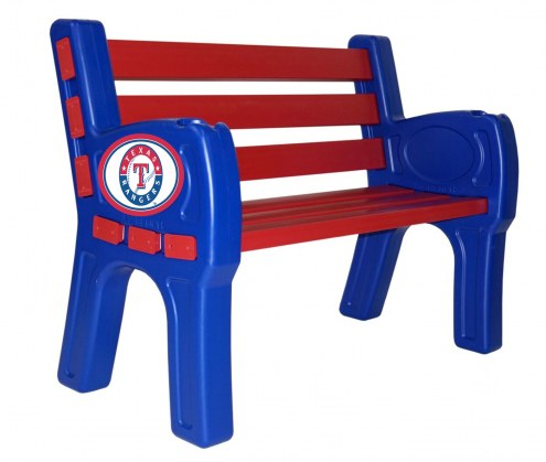 Texas Rangers Park Bench