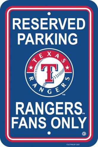 Texas Rangers Parking Sign