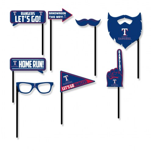 Texas Rangers Party Props Selfie Kit