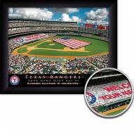 Texas Rangers 11 x 14 Personalized Framed Stadium Print