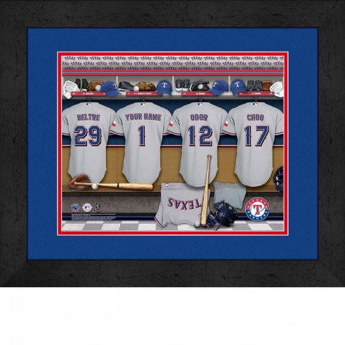 Texas Rangers Personalized Locker Room 13 x 16 Framed Photograph