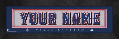 Texas Rangers Personalized Stitched Jersey Print