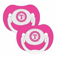 Texas Rangers Pink Pacifiers - 2 Pack