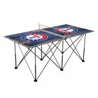 Texas Rangers Pop Up 6' Ping Pong Table