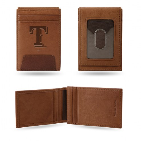 Texas Rangers Premium Leather Front Pocket Wallet