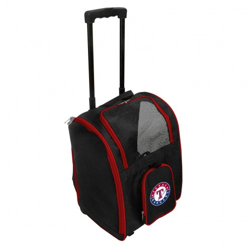 Texas Rangers Premium Pet Carrier with Wheels