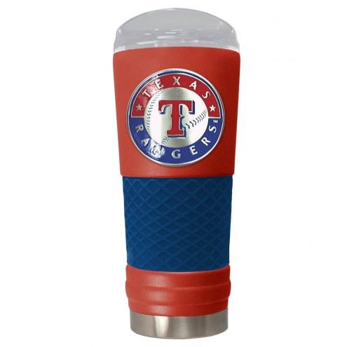 Texas Rangers Red 24 oz. Powder Coated Draft Tumbler