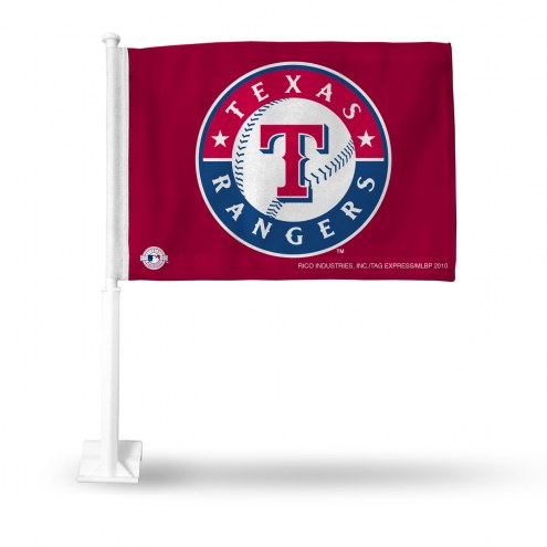 Texas Rangers Red Car Flag
