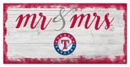 Texas Rangers Script Mr. & Mrs. Sign