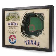 Texas Rangers 25-Layer StadiumViews 3D Wall Art