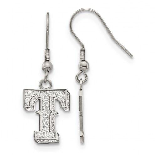 Texas Rangers Stainless Steel Dangle Earrings