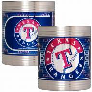 Texas Rangers Stainless Steel Hi-Def Coozie Set