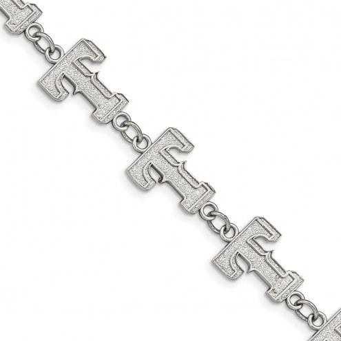 Texas Rangers Stainless Steel Logo Bracelet