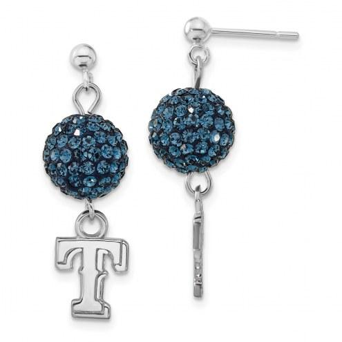 Texas Rangers Sterling Silver Crystal Ovation Earrings