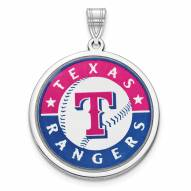 Texas Rangers Sterling Silver Disc Pendant