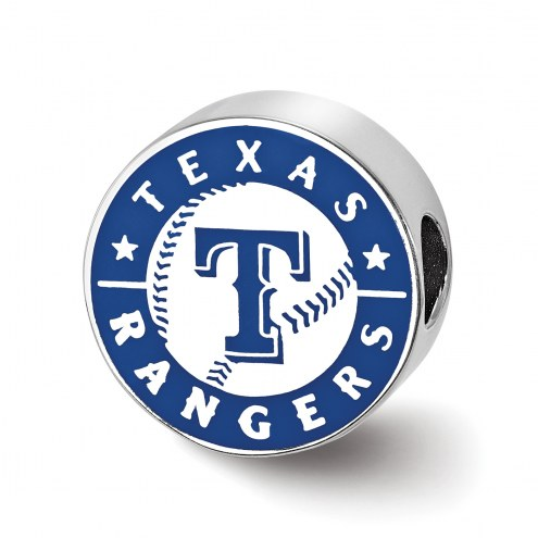 Texas Rangers Sterling Silver Enameled Bead