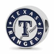 Texas Rangers Sterling Silver Enameled Bead