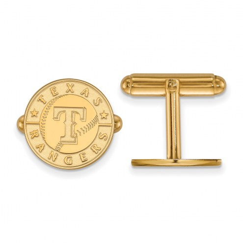Texas Rangers Sterling Silver Gold Plated Cuff Links