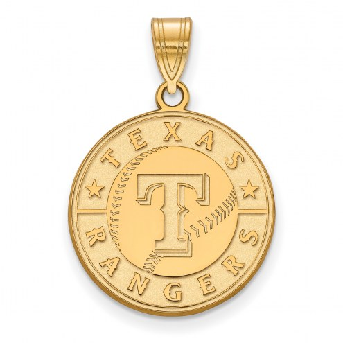 Texas Rangers Sterling Silver Gold Plated Large Pendant