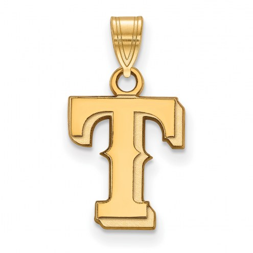 Texas Rangers Sterling Silver Gold Plated Small Pendant