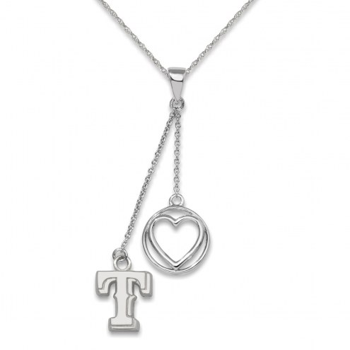 Texas Rangers Sterling Silver Heart Necklace
