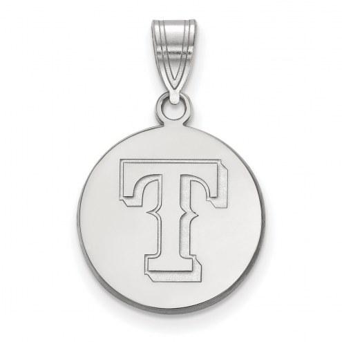 Texas Rangers Sterling Silver Medium Disc Pendant