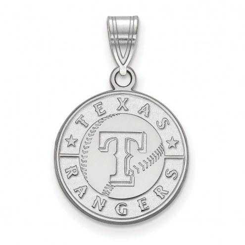Texas Rangers Sterling Silver Medium Pendant