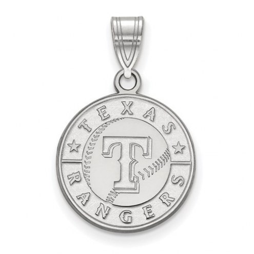 Texas Rangers Sterling Silver Medium Pendant