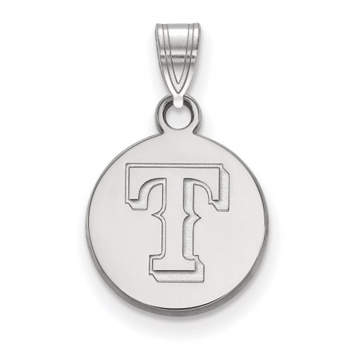 Texas Rangers Sterling Silver Small Disc Pendant