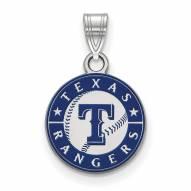 Texas Rangers Sterling Silver Small Enamel Pendant