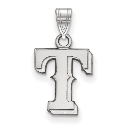 Texas Rangers Sterling Silver Small Pendant