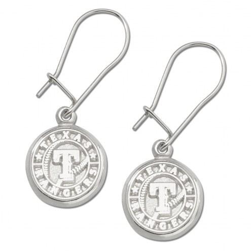 Texas Rangers Sterling Silver Wire Dangle Earrings