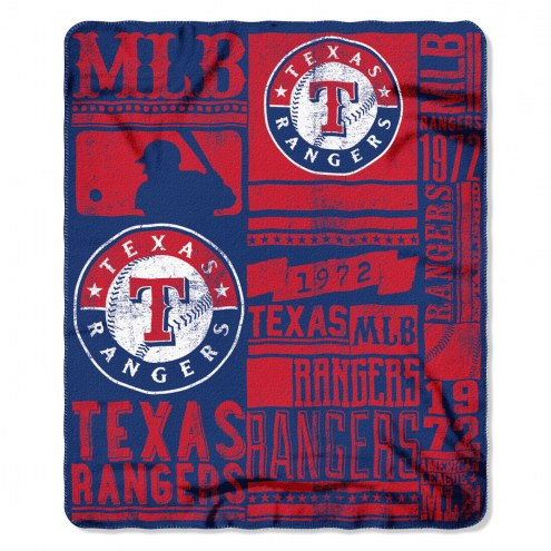 Texas Rangers Strength Fleece Blanket