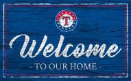 Texas Rangers Team Color Welcome Sign