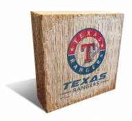 Texas Rangers Team Logo Block