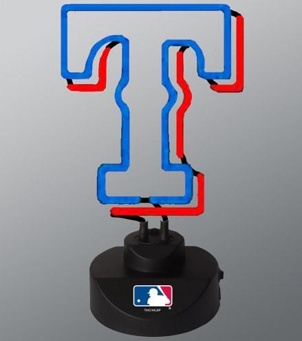 Texas Rangers Team Logo Neon Lamp