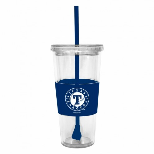 Texas Rangers Tumbler with Straw