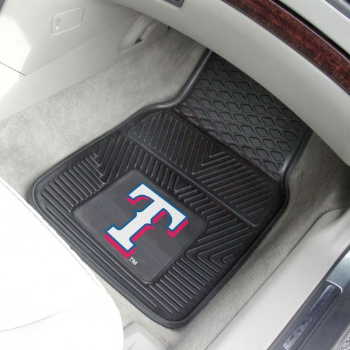 Texas Rangers Vinyl 2-Piece Car Floor Mats