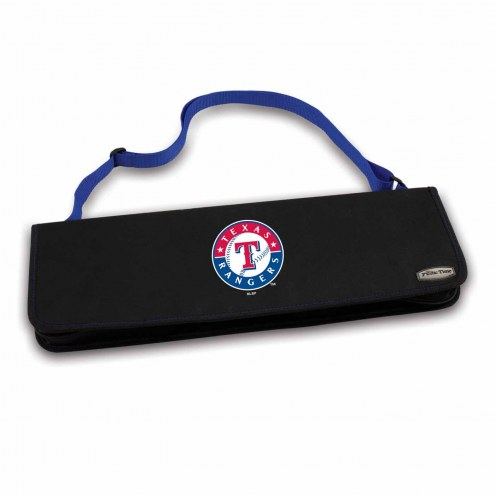 Texas Rangers Vista Blue Metro BBQ Set