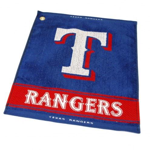 Texas Rangers Woven Golf Towel