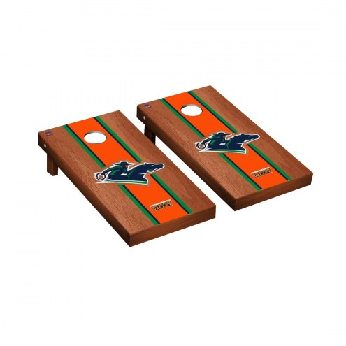 Texas Rio Grande Valley Vaqueros Rosewood Stained Stripe Cornhole Game Set