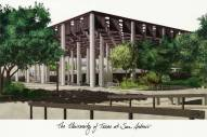 Texas San Antonio Roadrunners Campus Images Lithograph